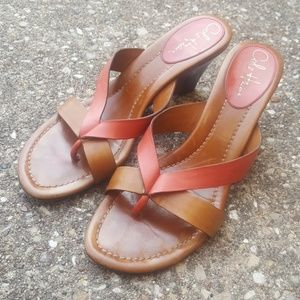 Cole Haan Brown Leather Coral Strappy Sandals 8B